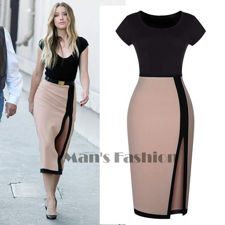 summer dress 2014 womens celeb sexy open fork high waist