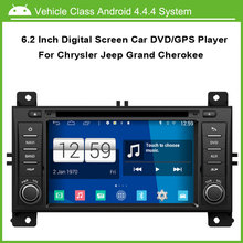 Android Car DVD Video player for Jeep Grand Cherokee GPS Navigation Multi-touch Capacitive screen,1024*600 high resolution.