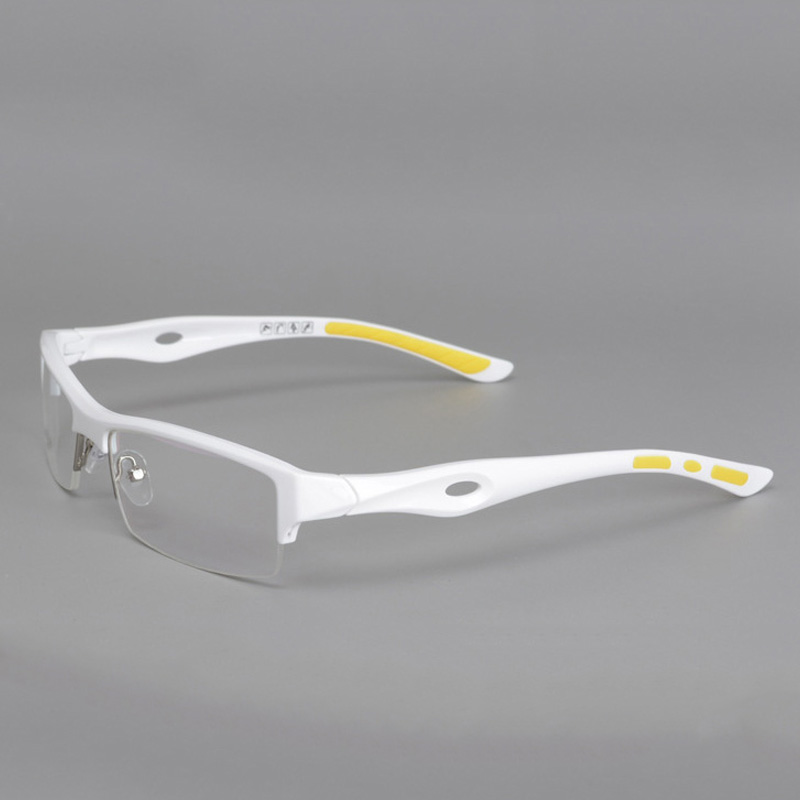 vazrobe brand tr90 glasses frame for youth fashion clear eyeglasses frames semi rimless white tr90 spectacles prescription