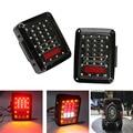 2x Car Integrated LED Tail Light Running Brake Light Reverse Backup Turn Signals Euro Version For Jeep Wrangler Rubicon X JK 12V