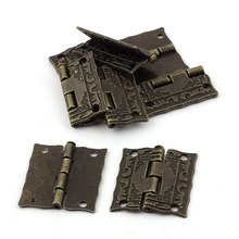 UXCELL Retro Style Case Jewelry Box Drawer Cabinet Butt Hinges Bronze Tone 8Pcs