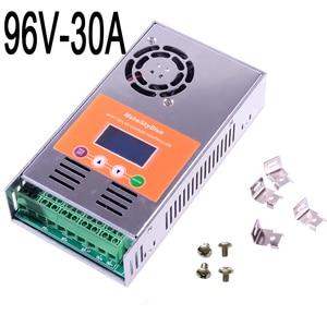Image 4 - Makeblue MPPT Солнечный контроллер заряда 30A 45A 50A только для 72V 96V DC кислота и литиевая батарея версия V118