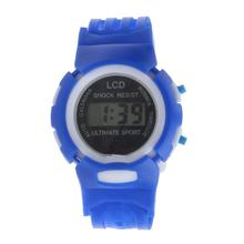 Kids Watches Time Sport Electronic Digital LCD Silicone Band Quartz Sport Watch Wristwatch Mens Relojes De Hombre(China (Mainland))