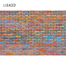 Laeacco Old Colorful Brick Wall Portrait Grunge Photography Backgrounds Customized Photographic Backdrops For Photo Studio