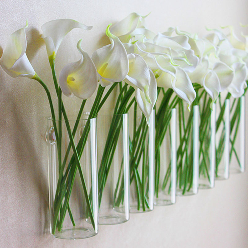 aliexpresscom buy 1pc glass vases fashion home decorative wall decoration flower vases with nail flower pots planters wedding party decor add from - Decorative Vases