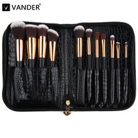 Vanderlife Pro 11 Pcs Makeup Brushes Set Bag For Women Fashion Soft Face Lip Eyeshadow Make