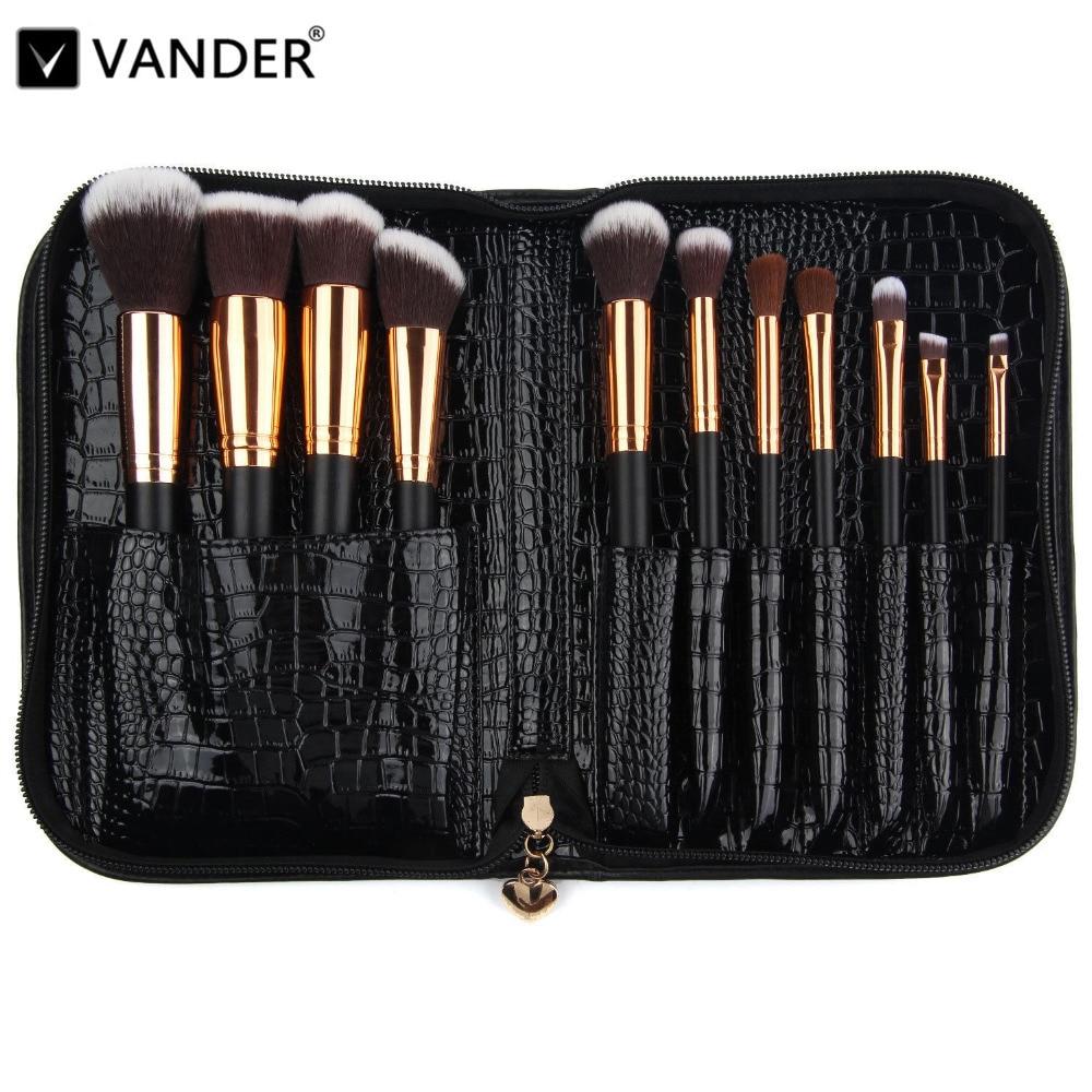 Vanderlife Pro 11 pcs Makeup Brushes Set Bag For Women Fashion Soft Face Lip Eyeshadow Make Up Brush Kit Beauty Cosmetics Tools