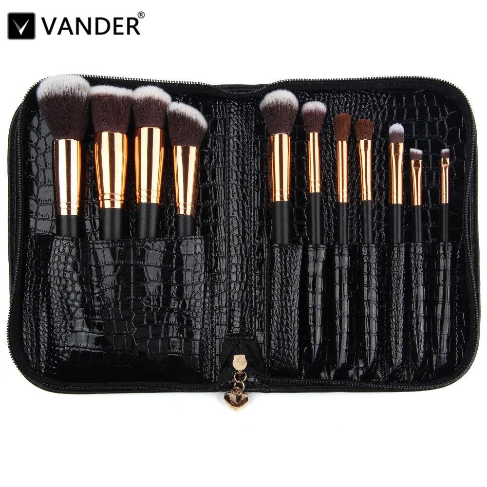 Vanderlife Pro 11 pcs Pinceaux De Maquillage Set Sac Pour Femmes Mode Doux Visage Lèvre Fard À Paupières Maquillage Brosse Kit Beauté outils cosmétiques