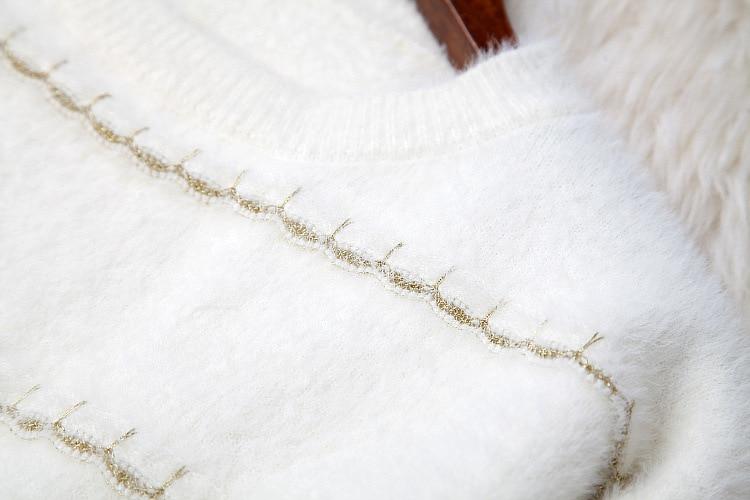 Ensemble Mignon Filles See Mohair Deux Style Perles A ligne Hiver 2018 Costumes Tricot Jupe Chart Pull Lâche Femmes Pièces En Tops Pulls Mini Nouveau nv8Oy0mNw