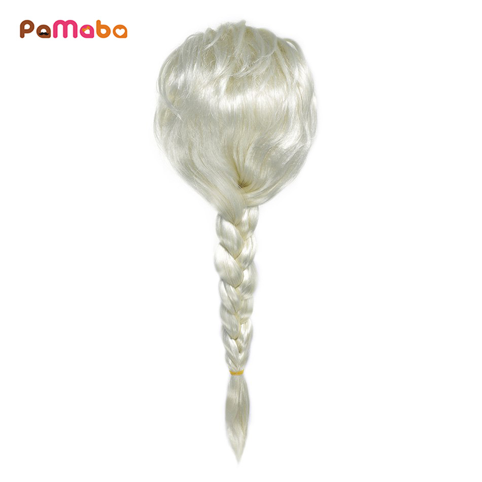 PaMaBa Girls Fantasy Princesses Accessory Headwear Rapunzel Moana Wigs Cosplay Fantasy Elsa Dreadlocks Artificial Hair Age 6-16T
