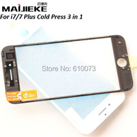 Original 4 In 1 Front Outer Glass With Middle Frame Bezel OCA Polarizer Film For IPhone