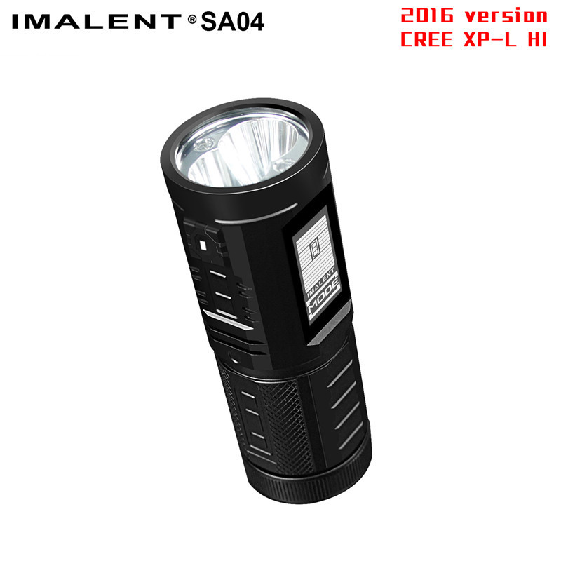 IMALENT SA04 2 Cree XM-12 LCD Touch Screen LED Flashlight +IPX-8+Military Specification Type III-hard anodized by 4 AA Battery