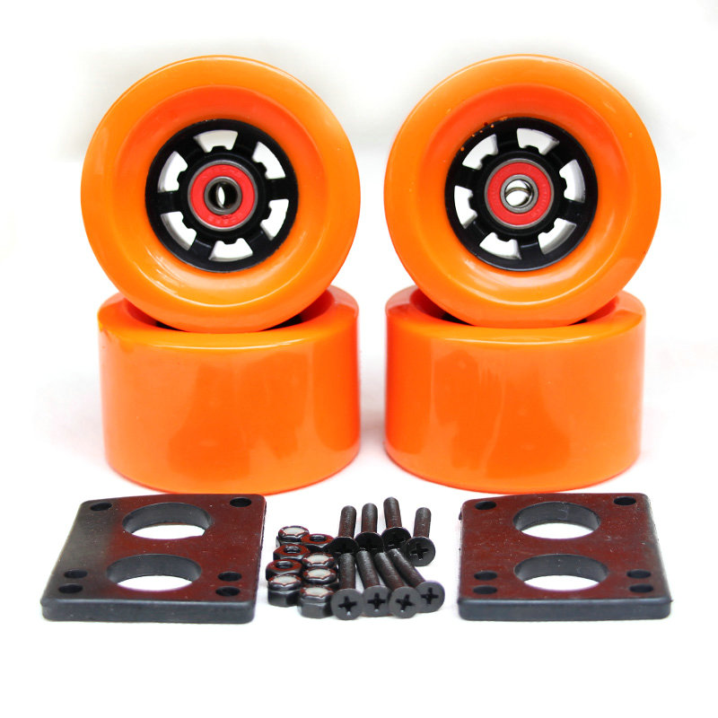 Free Shipping 90*52mm Longboard Wheels Electric Skateboard 78A Wheels ABEC-9 Bearings Bushings Hardware Gasket Skateboard Parts
