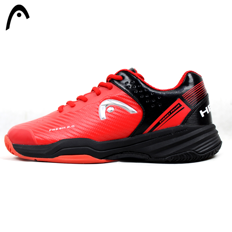 HEAD Man's Tennis Shoes Red Breathable Mesh PU TOP Quality Professional Tennis Sneakers For Man Zapatillas Para Tenis head women s tennis shoes original wearable breathable damping professional tennis sneakers for women zapatillas para tenis