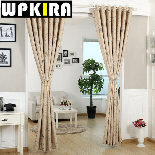 American Europe Luxury Blue Flocked Curtain Cloth Embroidered Lace ...