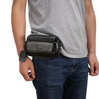 5.2 5.5 5.7 6.3 smart phone bag case cover Genuine Leather men casual waist hanging universal protective holster