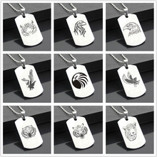 Perfect JL Animal B Western Style Army card Personalized Diy Letters Pendant Steel Necklace personality Gifts DW02(China)