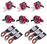 6 X 2212 920KV CW CCW Brushless Motor 6 X 30A Simonk ESC With 3 5mm
