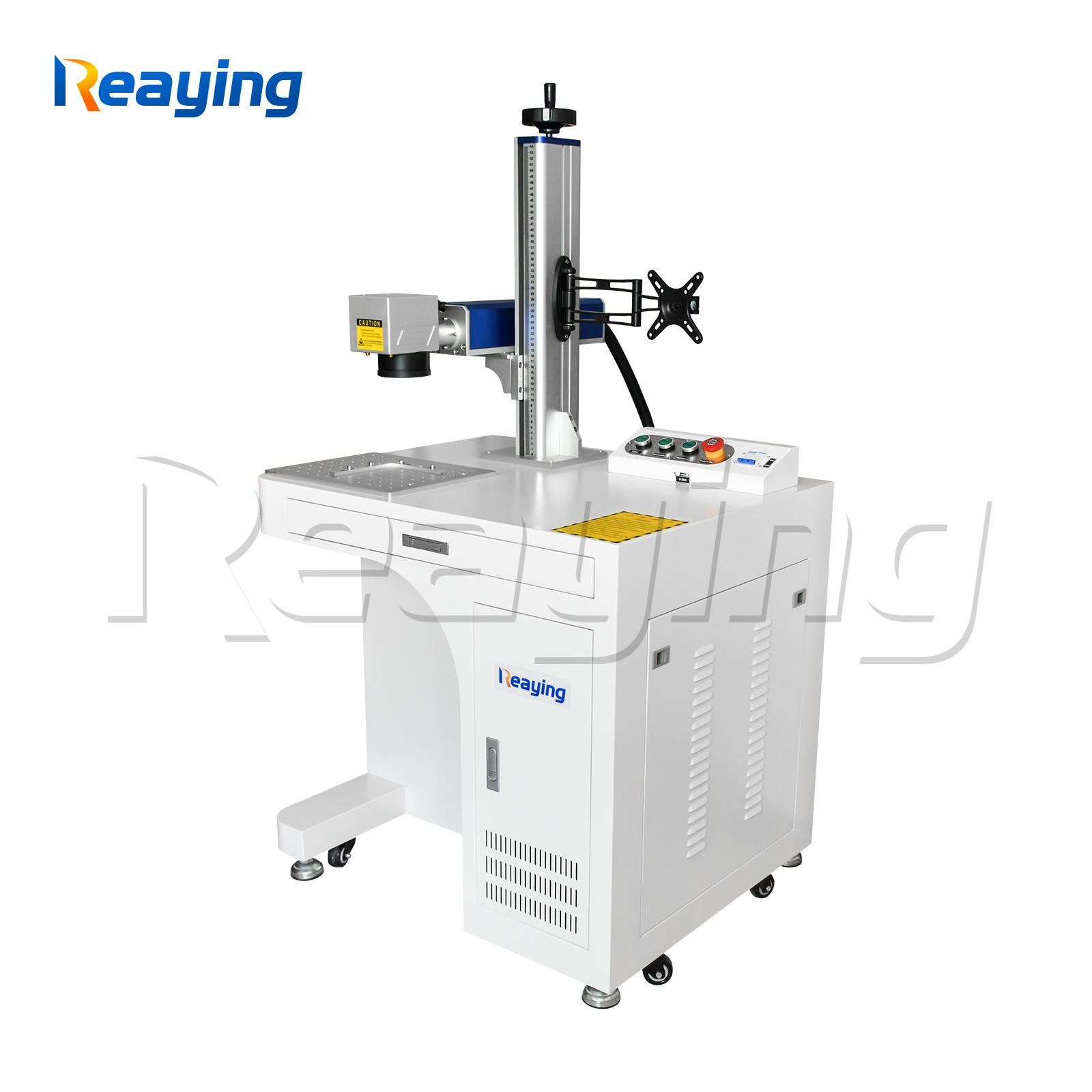Reaying 50 watt fiber laser marking machine with Raycus laser source for metal nonmetal engraving