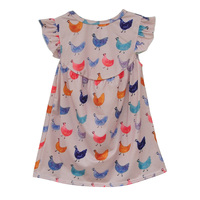 Hot Sale Baby Girls Lovely Dress Animal Pattern Sleeveless Kids Clothing Boutique Remake Spring Summer Children