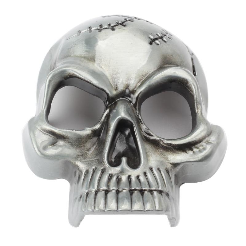 The Scalp Skull Buckle Head Smooth Alloy Buckle