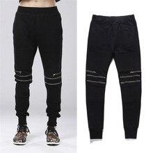 27~44! New 2017 Men's Clothing PLUS SIZE Fall upon Wei pants zipper slim simple Haren Pants Slacks singer costumes