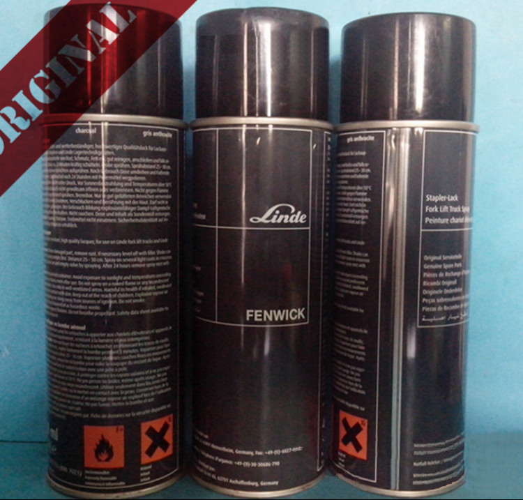 Linde Forklift Part Maintenance Parts Black Paint Spray Can RAL7021 400ml 7278375721 Electric Truck 335 336 Diesel Truck 350 351