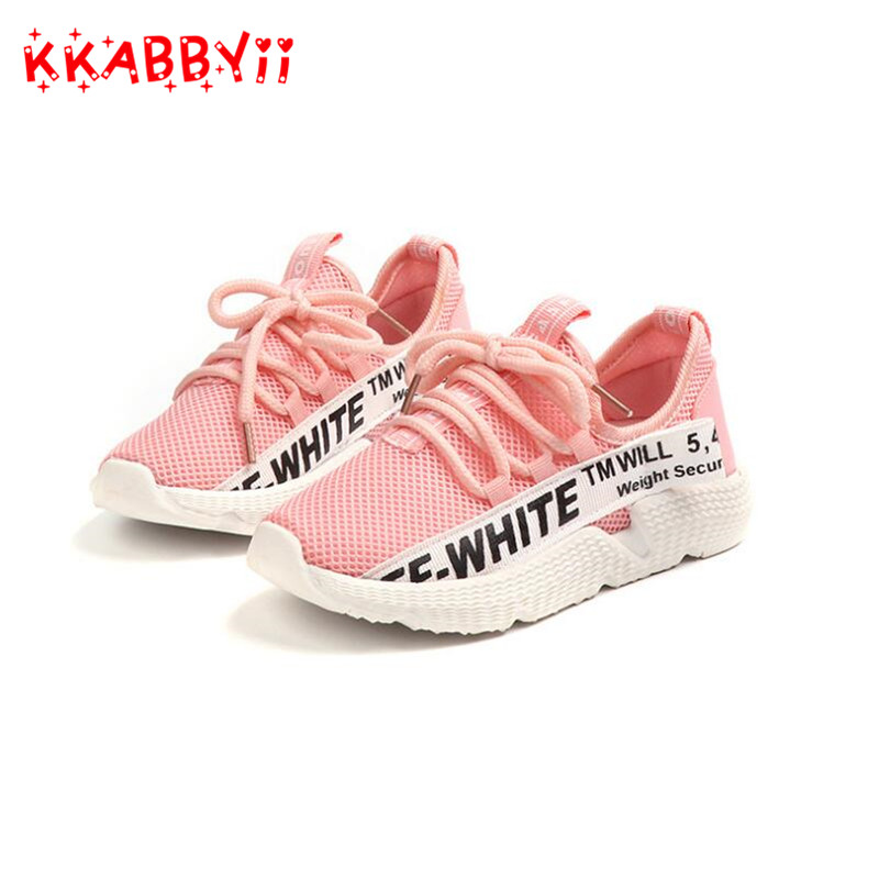 Breathable Kids Sport Shoes For Girls Running Boys Sneakers Hook&Loop Children Shoes School Trainer Student Footwear