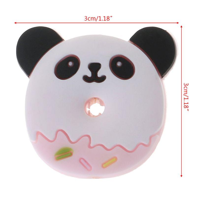 Купить с кэшбэком Silicone Beads Panda Cartoon DIY Baby Teether Teething Care Oral Supplies Necklace Pendant Bracelet Bite Chew Toys Food Grade