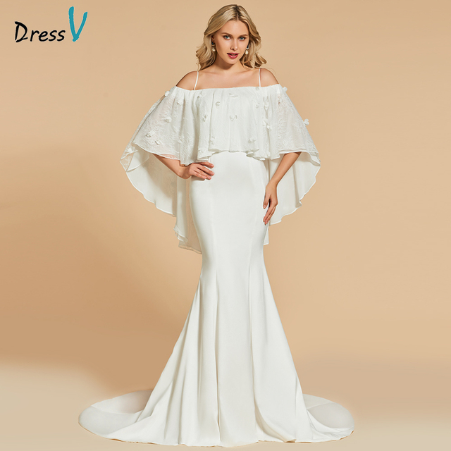 Dressv Ivory Long Evening Dress Off The Shoulder Mermaid Elegant