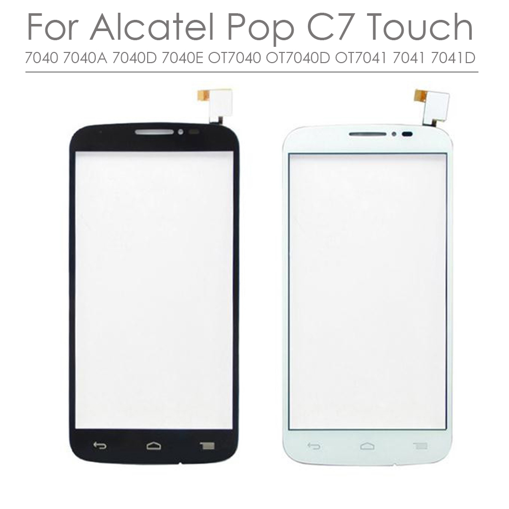 Black White For Alcatel One Touch Pop C7 7040 7040A 7040D