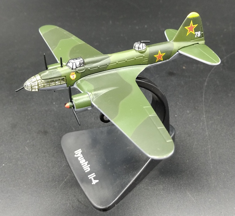1 144 World War Ii Soviet Il 4 Long Range Er Model Alloy Aircraft Favorites In Casts Toy Vehicles From Toys Hobbies On