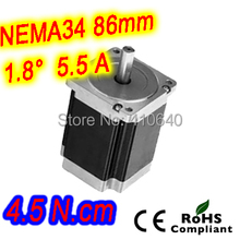 5 шт. за лот шагового двигателя 34HS31-5504S L 80 мм Nema 34 с 1.8 град. ток 5.5 А крутящий момент 4.5 n. см и 4 провода