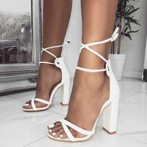3c8f7897a2a azmodo High Heels Thick Heels Shoes Gladiator Sandals