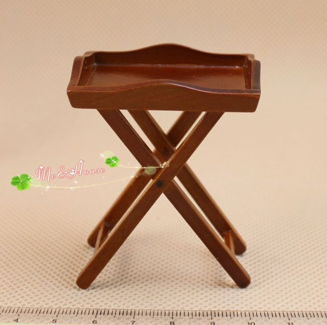 MINI Doll house Miniature model furniture coffee holder shelves with a single piece