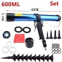 600ml Pneumatic Caulking Gun Glass Glue Air Rubber Guns Tool Caulking Gun Glass Glue Tools