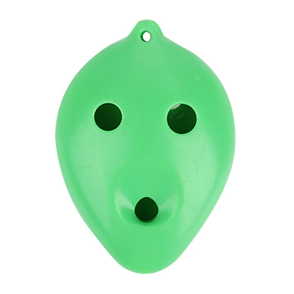 Пластиковая фарфоровая флейта, 6 отверстий для фарфоровой керамики, профессиональная, для начинающих, для обучения окарины, для кракле, белая глина, керамика - Цвет: green