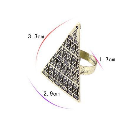 2016 новые моды преувеличены личности регулируемый размер кольца любовь магический треугольник открытие кольцо r118 r438 напряжения тока
