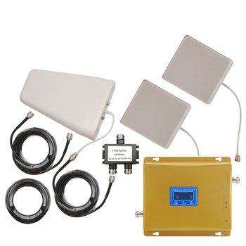 GSM 900mhz DCS 1800mhz B3 Dual Band Moblie Signal Repeater 65dB Gain 4G LTE 1800 Booster Two Indoor Antenna Amplifier