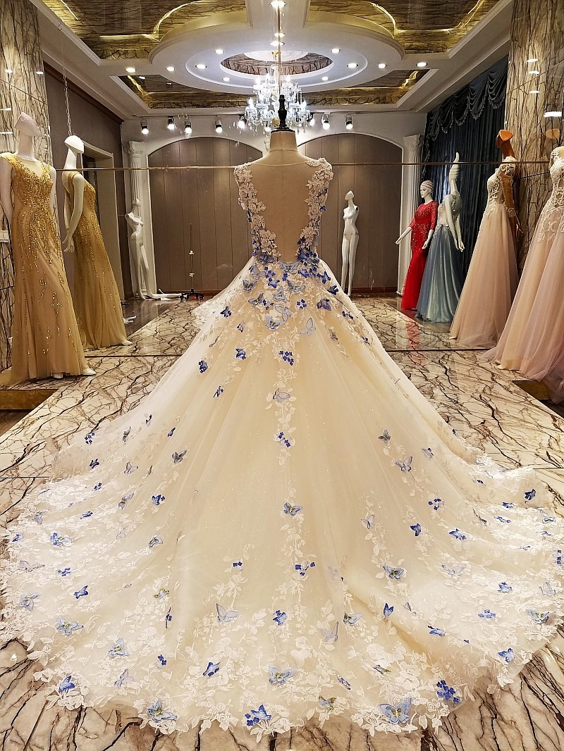 Robe soiree longue femme 2018 A line elegant party evening dresses long with butterfly lace real photos