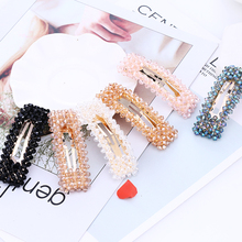 2019 Fashion 5 Color Hipster Hair Clip And Trendy Crystal Square Girls Delicate Hairpins For Women Clothing Accessories Gifts