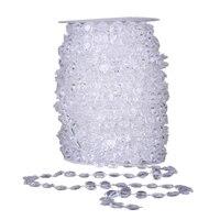 Calofe 30 متر لفة 10 ملليمتر الراتنج اللؤلؤ سلسلة diy المواد الخرز سلسلة سلسلة حزب السنة الجديدة زينة الزفاف للمنزل