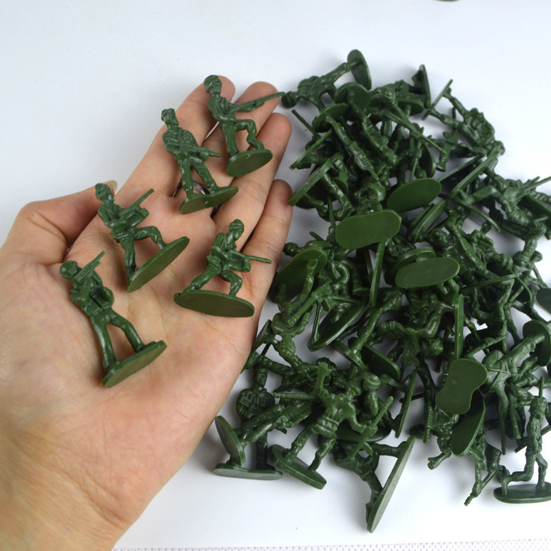 Best Selling Bagged Soldiers Toy 100 Static Small Soldier Characters Military Model Children's Toys Wholesale Mixed Batch