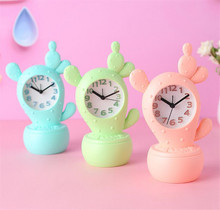 Creative cactus Alarm Clock Cartoon Children Students Electronic Lazy Alarm Clock Bedroom Desktop Bedside Ornaments B2217