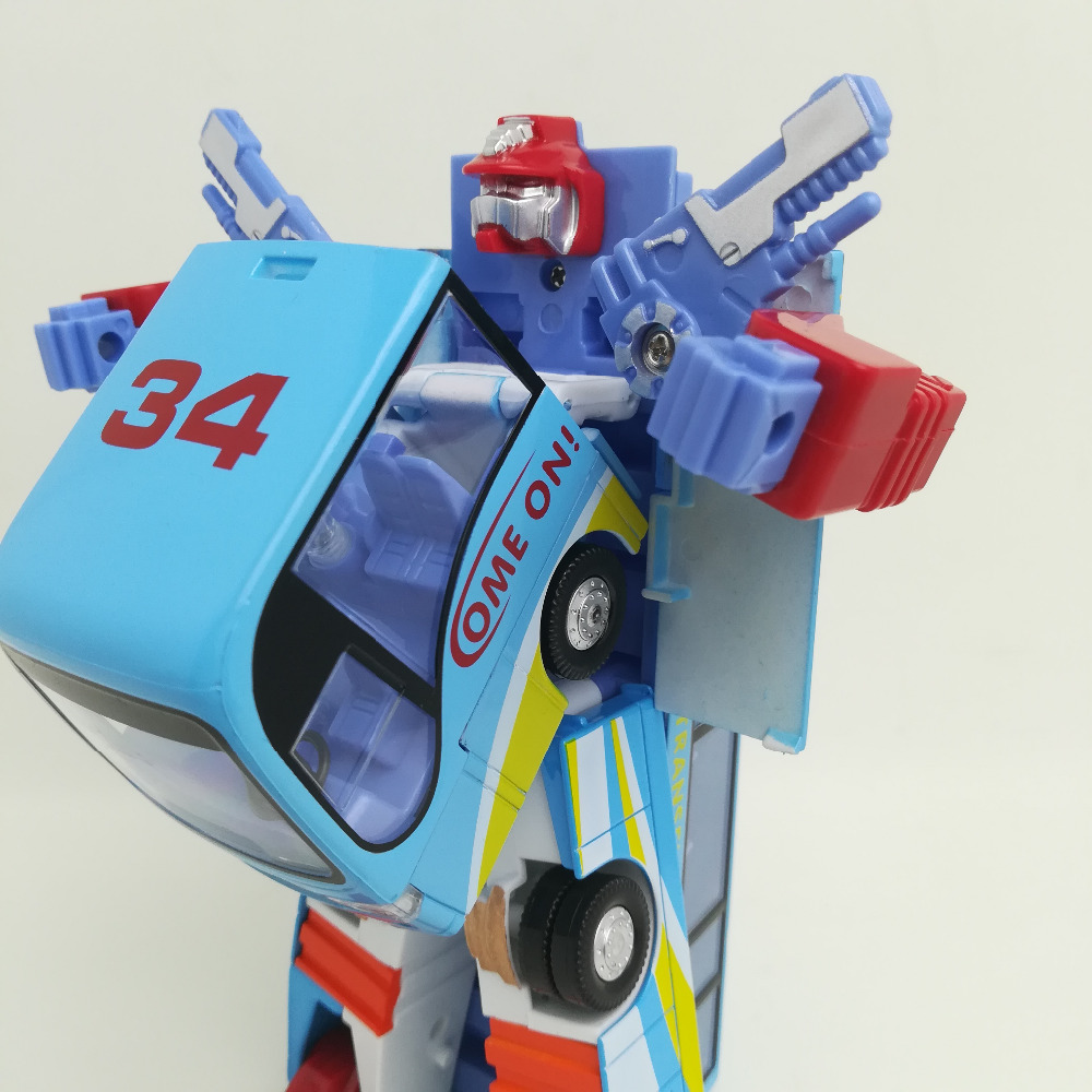 Alloy Robot Transformation 3 color Car Toys Alloy Deformation Police Robot Bus Toy For Kids children Birthday Christmas t E in Action & Toy Figures from