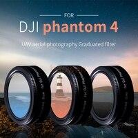 wtianya Graduated grey Orange Blue Lens Filter Protector for DJI phantom 4 pro camera