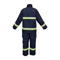 New Firemen Firefighter Suit Chemical Protective Flame retardant Reflective Stripes Gas tight Accident Rescue Bunker Clothing