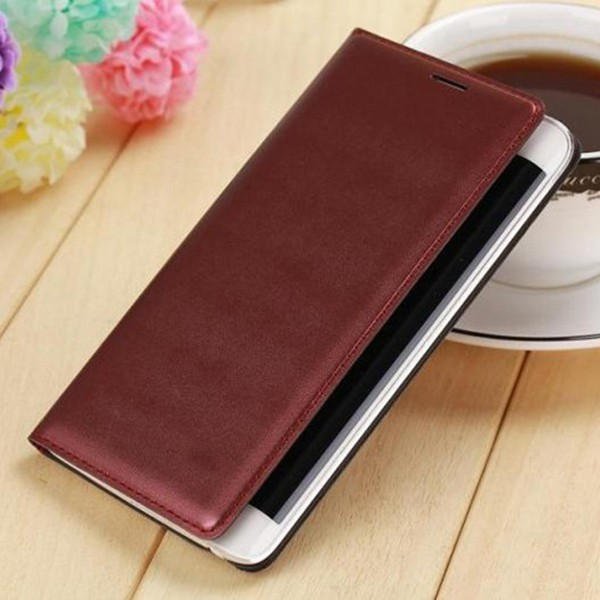 Slim Wallet Leather Case Flip Cover med korthållare Batterihölje Holster Skyddande skal för Samsung Galaxy Note Edge N9150