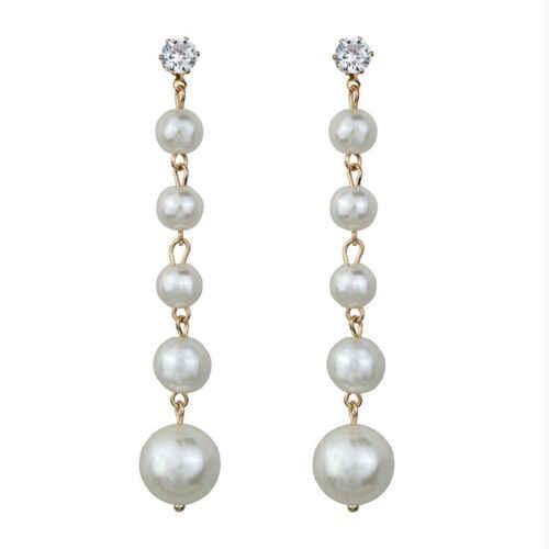 Lange Baumeln Perlen Ohrring Gold Übertreiben Große Schmuck Neue Mode Weibliche Ohrringe