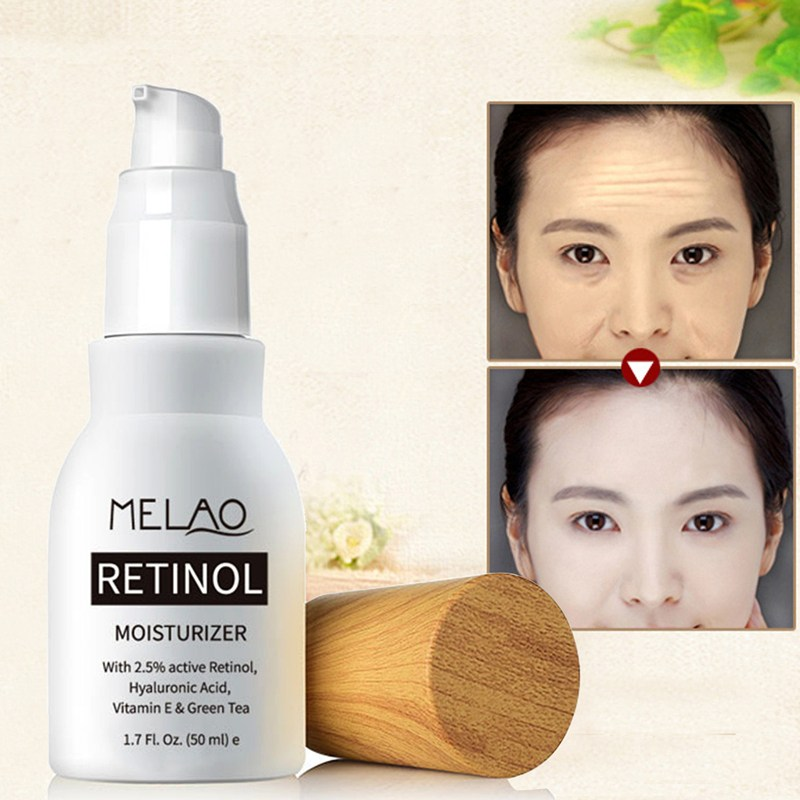 Retinol 2.5% Active Moisturizer Whitening Cream Face Cream Serum Wrinkles Anti-Aging Hyaluronic Acid Vitamin E Green Tea Face retinol face serum with hyaluronic acid vitamin e anti aging retinol serum for wrinkles fine lines and sensitive skin meiking